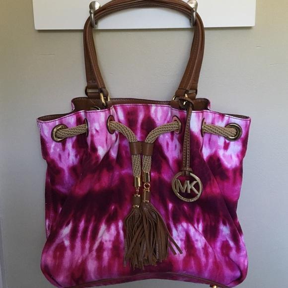 871d1d1fa94d MICHAEL Michael Kors Bags | Euc Michael Kors Marina Pink Tiedye Tote ...