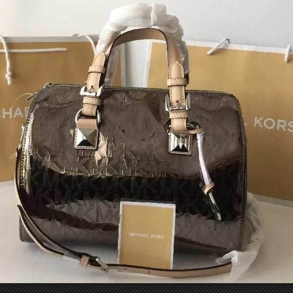 44baff63e201 MICHAEL Michael Kors Bags | Michael Kors Grayson Mk Sig Mirror ...