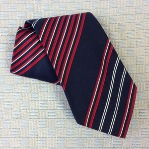 Other - Men's navy with red accents tie