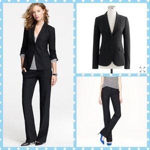 J.Crew 1035 Black Suit Jacket & Trousers