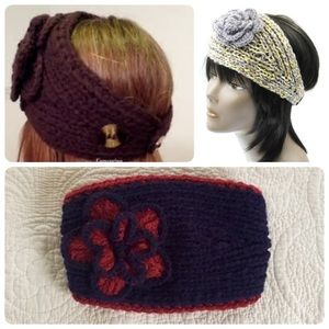 Vntg Cable knit head band!
