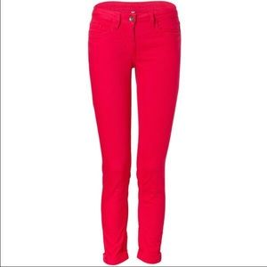 Sandro Red Cuffed Skinny Jeans