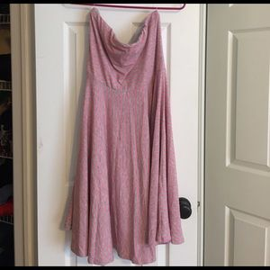 Maurices Dresses - Maurice's Gray with Pink stripe strapless dress