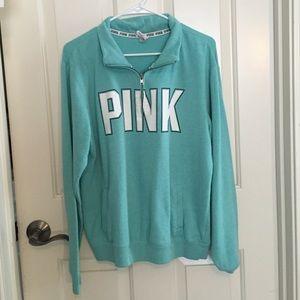 PINK Turquoise Quarter Zip