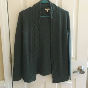 Talbots Green Cardigan - Size Small