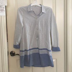 J.Crew Longsleeve Colorblock Shirt Dress
