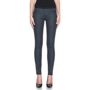 Helmut Lang Slate Blue Coated Skinny Jean/Jegging