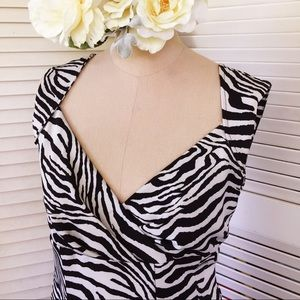 Snap Dresses & Skirts - Sexy fitted zebra print dress.
