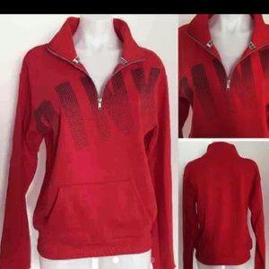 Vs Pink half zip pullover sweater