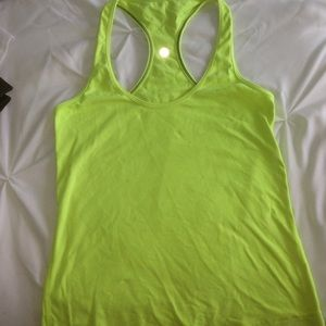 LuluLemon Bright Green Workout Top