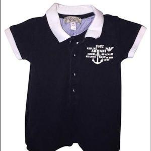 Armani Junior Other - Armani newborn baby boy outfit romper