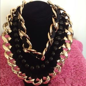 Jewelry - Golden Big Thick Chain Necklace