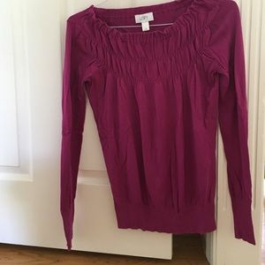 Loft XS purple light sweater.
