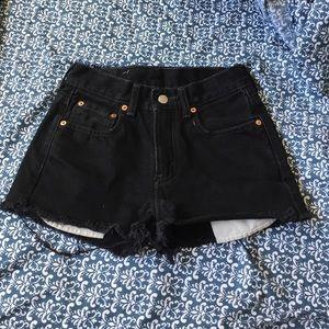 Levis Black High Waisted Denim Shorts!
