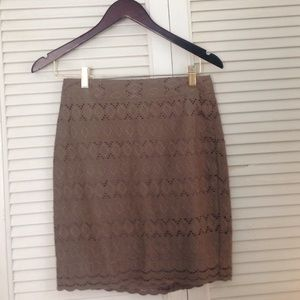 Beige pencil skirt by Ann Taylor
