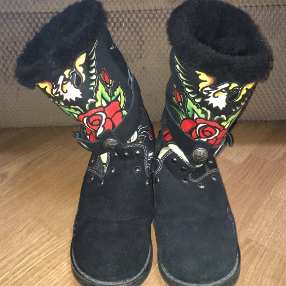 Ed Hardy Classic Pink Tall Woman Perfume: Ed Hardy Ugg Style Boots From Samantha's Closet On Poshmark