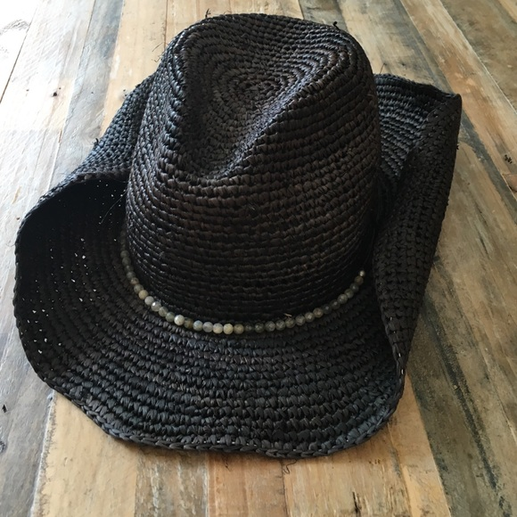 93d751900e56be Hatattack Accessories | Black Designer Straw Cowboy Hat With Accents ...