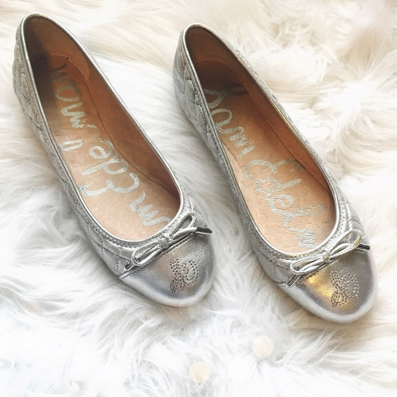 e3e916b3d Sam Edelman Shoes | New Silver Quilted Flats | Poshmark