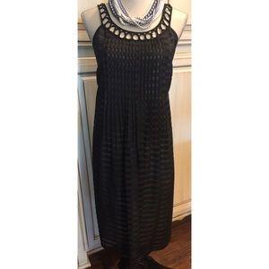 Robbie Bee Dresses & Skirts - Robbie Bee Sheer Black Striped Dress