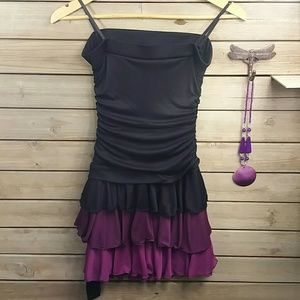 A. Byer Dresses & Skirts - 💙Black and Purple Strapless Dress