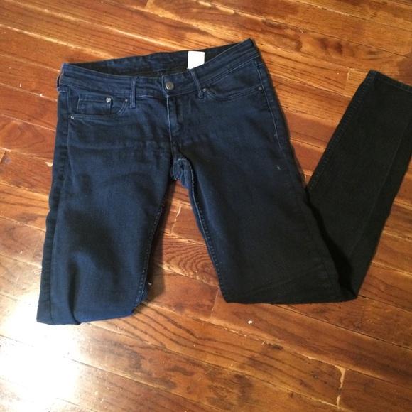 89 off h m denim black super skinny super low waist. Black Bedroom Furniture Sets. Home Design Ideas