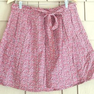 GAP Pleated Floral Wrap Skirt, Size 12