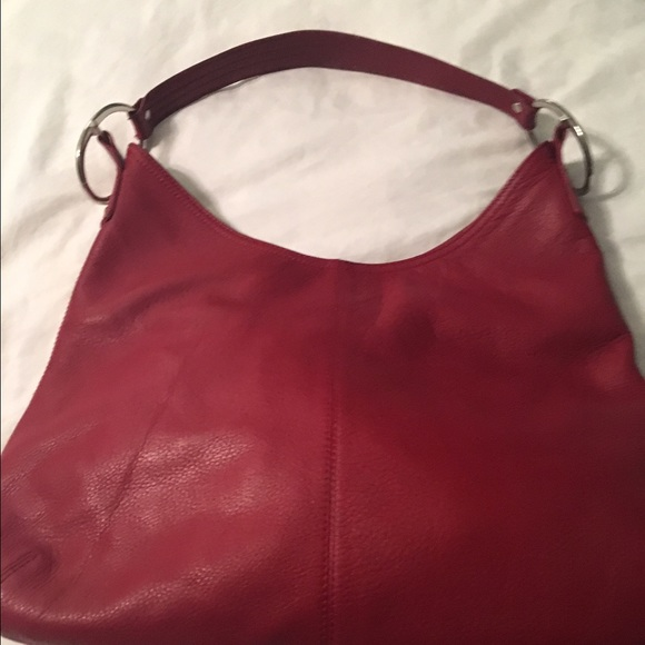 79% off Alfani Handbags - Red Alfani leather Hobo Bag from ...