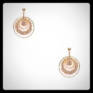 Cara Couture Jewelry - Cara Couture Multi-Circle Earrings in gold.