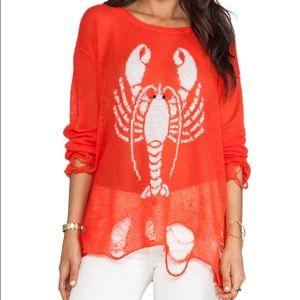 Wildfox lobster sweater