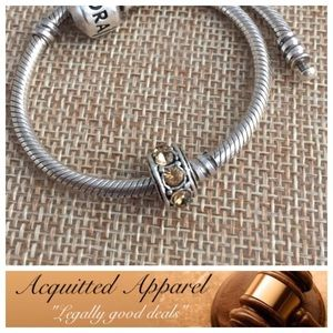 Acquitted Apparel Jewelry - Champagne Bling Spacer Crystal Charm Fits Pandora