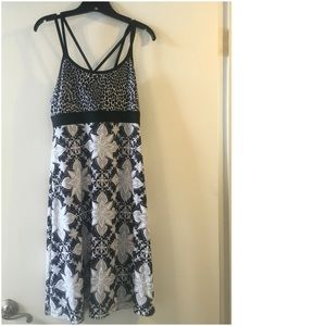 Prana black floral dress