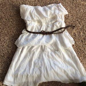 Dresses & Skirts - Strapless white dress-XL Junior/Women's Medium