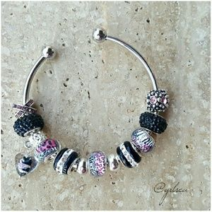 Salty Grace  Jewelry - Cheetah animal print pink and black