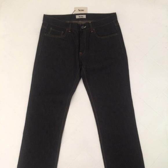 "Acne Other - New Acne Men's Dark Blue Jeans ""Mic Rigid"" 34/32"