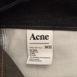 "Acne Jeans - New Acne Men's Dark Blue Jeans ""Mic Rigid"" 34/32"