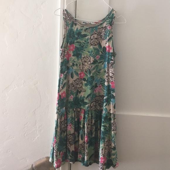 f3cc48ff73af H M Other - Girl s Summer Jungle-Print Dress ...