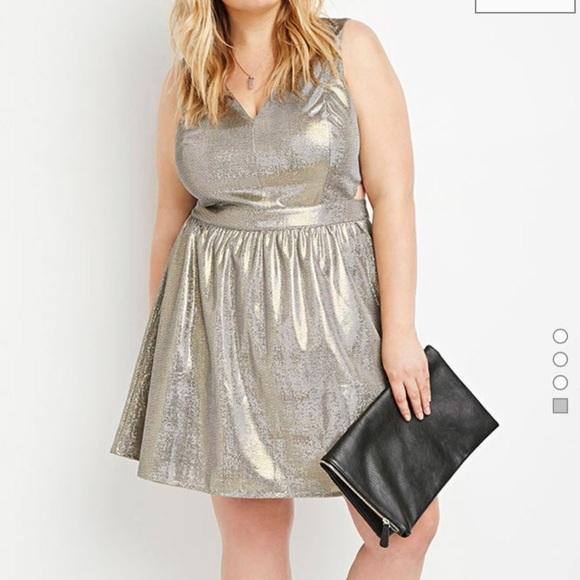 Gorgeous metallic plus size dress