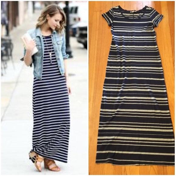 Navy blue maxi dress gap