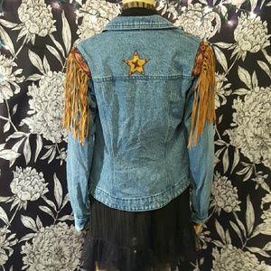 Vintage western jean jacket