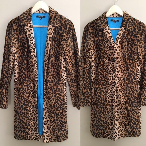 108485082e7c Karen Kane Jackets & Coats   Leopard Print Long Line Coat   Poshmark