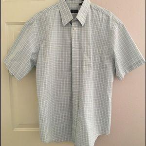 Izod Other - Izod Blue/White Checked Button-Down Shirt