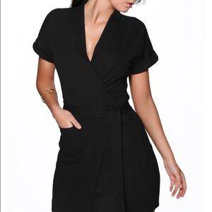 Little black wrap dress. NWT.
