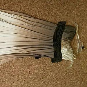 Grey Ombre maxi dress.