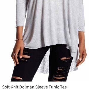 Nostalgia Tops - || Soft Knit Dolman Sleeve Tunic ||