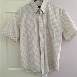 Izod Other - Izod Yellow/Blue/White Checked Button-Down Shirt