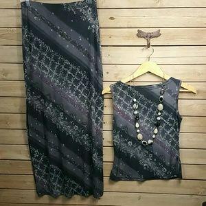 A. Byer Dresses & Skirts - Gray Skirt Set