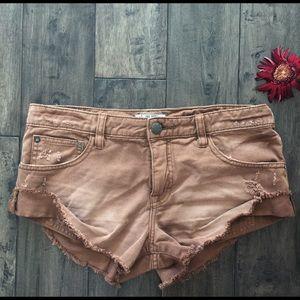Free people mocha shorts size 26