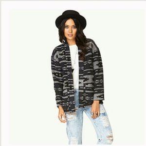 Gray tribal print Forever 21 jacket NWT