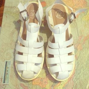 Missguided chunky white sandals