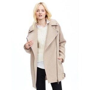 Banana Republic Jackets & Blazers - BNWT Banana Republic wool Moto cocoon coat M/T
